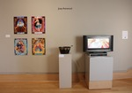 Installation view of The Ink Monster, Wriston Art Center Galleries, May 2013 by Jossett (Joey) Astwood