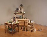Installation view of Affinity: A Domestic Installation of Ceramic Landscape, Wriston Art Center Galleries, May 2013