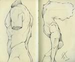 Sketchbook Detail: Victoria and Albert Statues