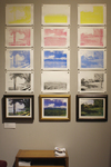 Installation View of Landscape Prints by Willa Johnson